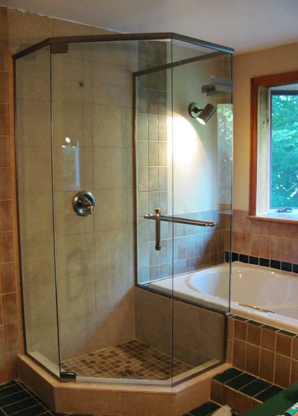 shower glass area frameless chicago custom door doors